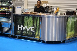 Our view of Hyve sponsored coffee bar, shame they didn't sponsor the after show drinks