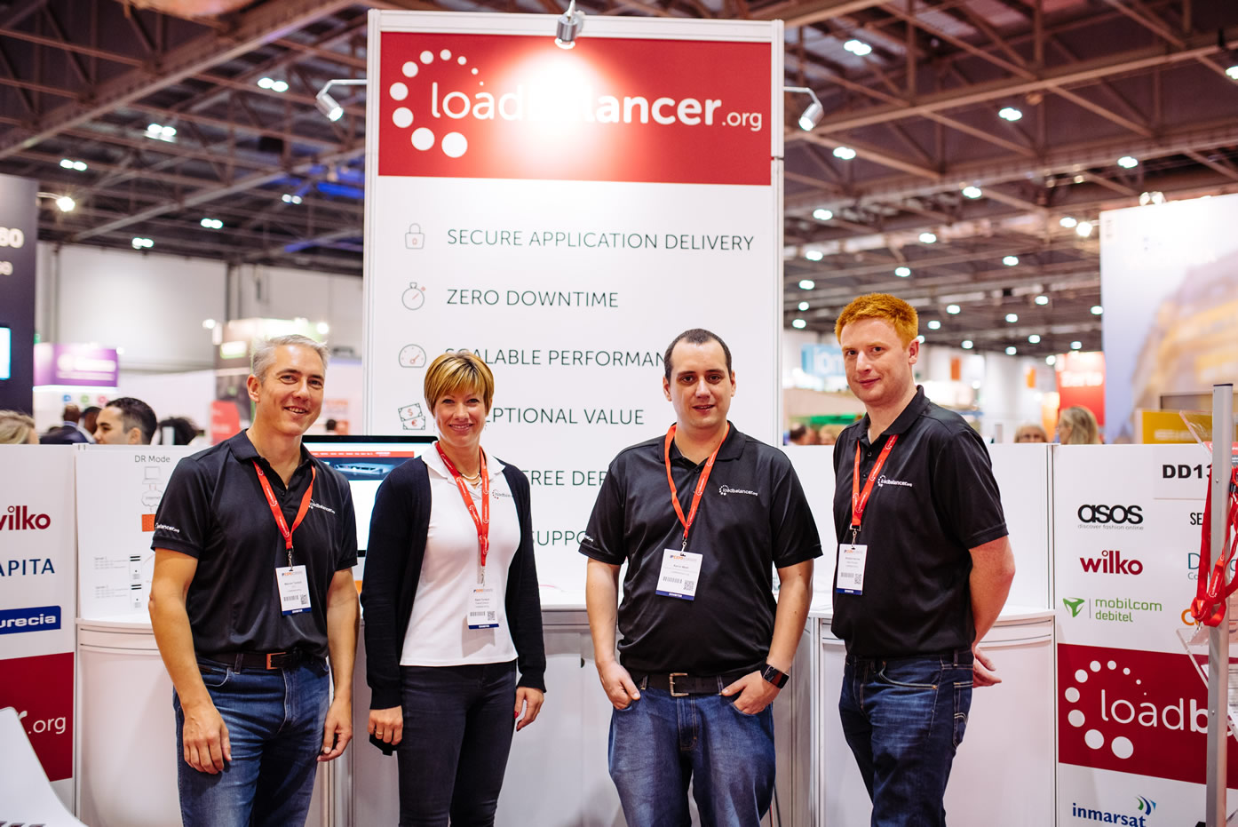 Loadbalancer.org Team at IP Expo Europe