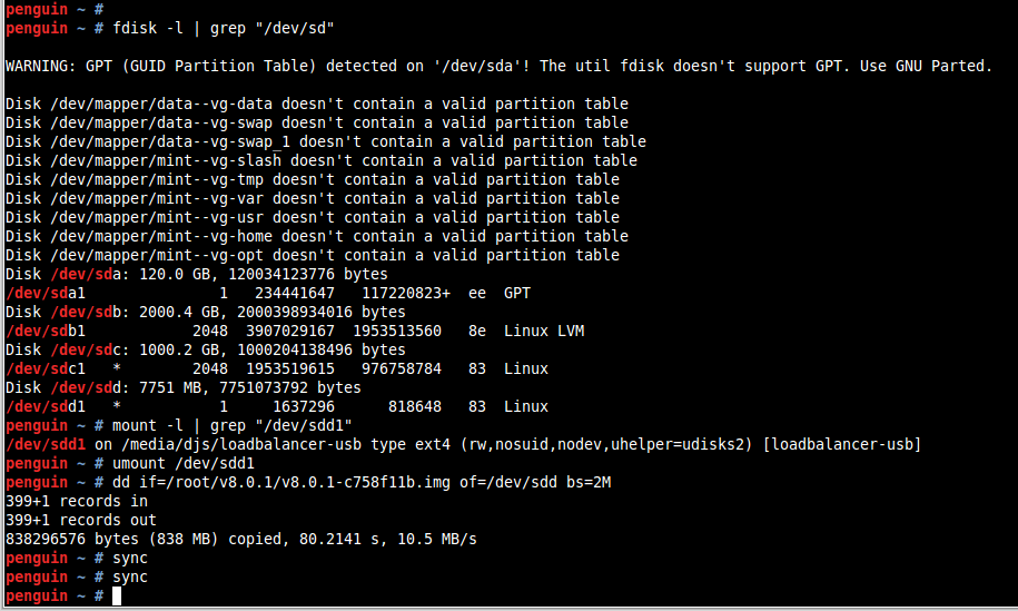 Linux dd process