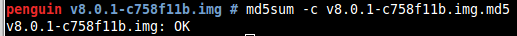 md5sum check example