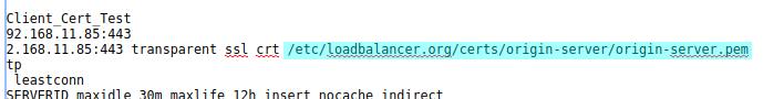 Configure origin server certificate