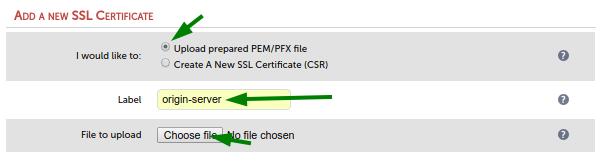 Add new ssl certificate 2