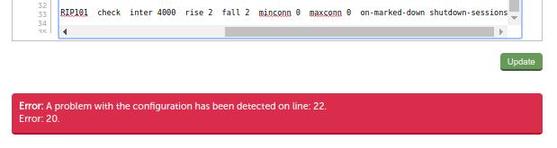 Red error after update