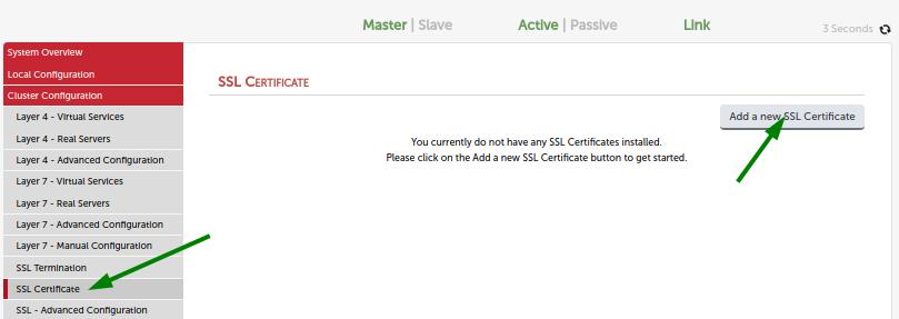 Add new ssl certificate 1