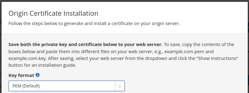 Origin Certificate Installation 2