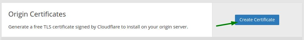 Create origin certificate