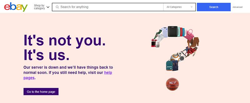 Ebay-downtime